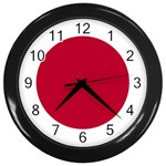 Japanese Flag Wall Clock (Black)
