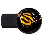 butterfly-pop-art-print-11 USB Flash Drive Round (2 GB)