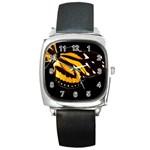 butterfly-pop-art-print-11 Square Metal Watch