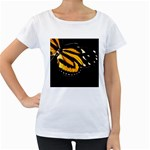butterfly-pop-art-print-11 Maternity White T-Shirt