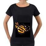 butterfly-pop-art-print-11 Maternity Black T-Shirt