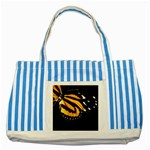 butterfly-pop-art-print-11 Striped Blue Tote Bag