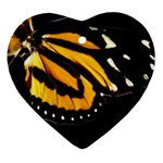 butterfly-pop-art-print-11 Heart Ornament (Two Sides)