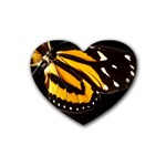 butterfly-pop-art-print-11 Rubber Coaster (Heart)