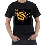 butterfly-pop-art-print-11 Black T-Shirt