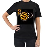 butterfly-pop-art-print-11 Women s Black T-Shirt