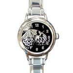 butterfly-pop-art-print-13 Round Italian Charm Watch