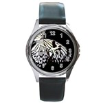 butterfly-pop-art-print-13 Round Metal Watch