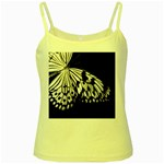 butterfly-pop-art-print-13 Yellow Spaghetti Tank