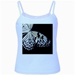 butterfly-pop-art-print-13 Baby Blue Spaghetti Tank