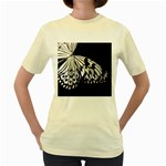 butterfly-pop-art-print-13 Women s Yellow T-Shirt