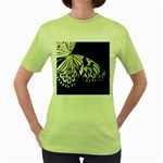 butterfly-pop-art-print-13 Women s Green T-Shirt