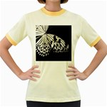 butterfly-pop-art-print-13 Women s Fitted Ringer T-Shirt