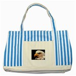 www_pics_am-birds133 Striped Blue Tote Bag