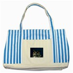 www_pics_am-birds207 Striped Blue Tote Bag