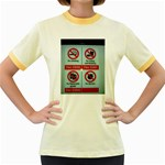 Subway_sign Women s Fitted Ringer T-Shirt