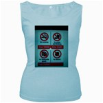 Subway_sign Women s Baby Blue Tank Top