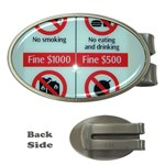 Subway_sign Money Clip (Oval)