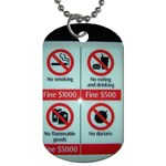 Subway_sign Dog Tag (One Side)