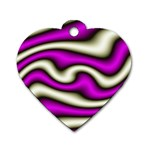 32282-2-317997 Dog Tag Heart (One Side)