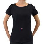 ART-z-100jgp-23302 Maternity Black T-Shirt