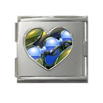 bluegold01b-709182 Mega Link Heart Italian Charm (18mm)