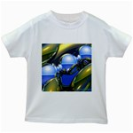 bluegold01b-709182 Kids White T-Shirt