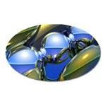 bluegold01b-709182 Magnet (Oval)