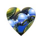 bluegold01b-709182 Magnet (Heart)