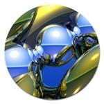 bluegold01b-709182 Magnet 5  (Round)