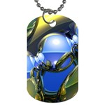 bluegold01b-709182 Dog Tag (One Side)