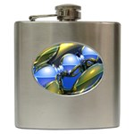 bluegold01b-709182 Hip Flask (6 oz)