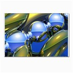 bluegold01b-709182 Postcards 5  x 7  (Pkg of 10)