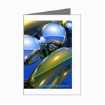 bluegold01b-709182 Mini Greeting Cards (Pkg of 8)