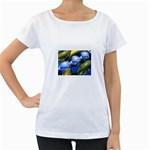 bluegold01b-709182 Maternity White T-Shirt