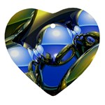bluegold01b-709182 Heart Ornament (Two Sides)