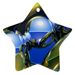 bluegold01b-709182 Star Ornament (Two Sides)
