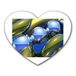 bluegold01b-709182 Mousepad (Heart)