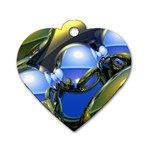 bluegold01b-709182 Dog Tag Heart (One Side)