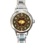 brown_fantasy-958468 Round Italian Charm Watch
