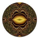 brown_fantasy-958468 Round Mousepad