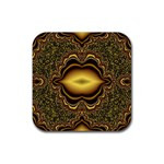 brown_fantasy-958468 Rubber Square Coaster (4 pack)