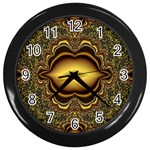 brown_fantasy-958468 Wall Clock (Black)