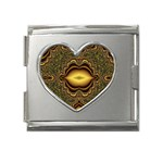 brown_fantasy-958468 Mega Link Heart Italian Charm (18mm)
