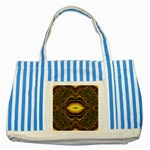 brown_fantasy-958468 Striped Blue Tote Bag