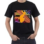 colordesign-391598 Black T-Shirt (Two Sides)