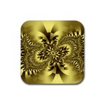 gold-260221 Rubber Square Coaster (4 pack)