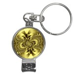 gold-260221 Nail Clippers Key Chain
