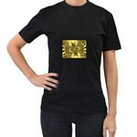 gold-260221 Women s Black T-Shirt (Two Sides)