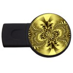 gold-260221 USB Flash Drive Round (4 GB)